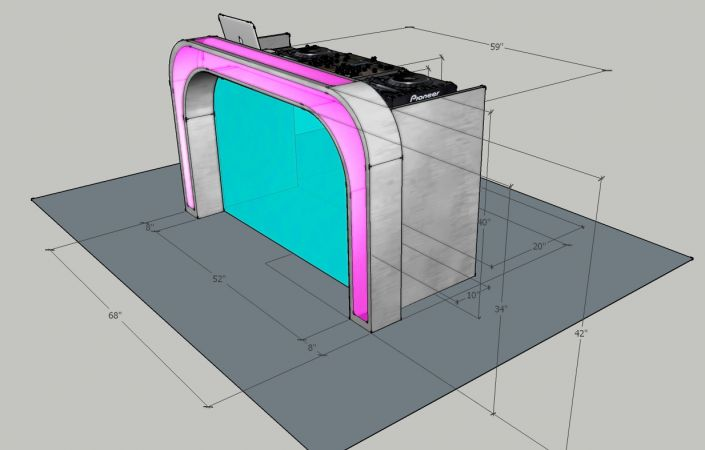 Illuminated DJ Table #205<br>1,234 x 788<br>Published 2 years ago